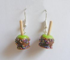 Chocolate Apple And Candy Earrings by NeatEats by rhonda4066