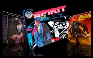 The Spirit, Lobo, Zatanna by CBDave