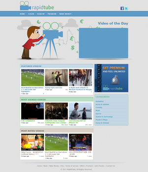 Rapidtube, Share your video on-line by kapsarovb