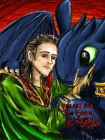 Toothless and Loki by sw-eden