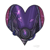 Mass Effect 3 Tali Valentine card by Agregor