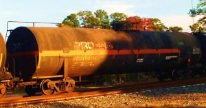 Old Procor Oversized Tank Car by SwiftWindSpirit