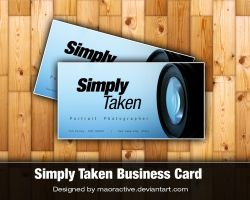 SimplyTaken Business Card by maoractive