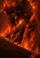 Fire wolf by Silce-Wolf