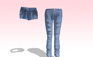 MMD HQ jeans and Shorts Pack by amiamy111