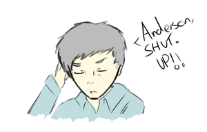 Sherlock - Doodle - Shut up Anderson by Granjolras
