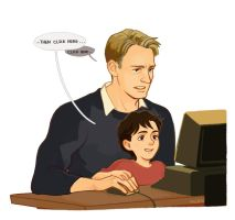 Uncle Steve and Little Tony by Hallpen