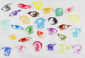 Random Anime Eyes by gina2595