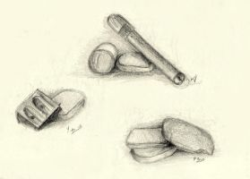 Erasers and other school stuff by Anilewka