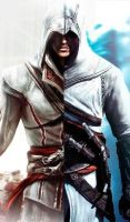 Ezio and Altair Bookmark by plasticplann