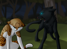 Leaffool and Crowfather by SkittyStrawberries