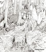 Parkland Heights Lineart by simonpark81