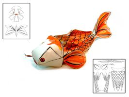 Koi Fish Papercraft by RisingKirin