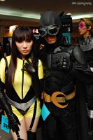 Silk Spectre and Dark Nite Owl by chenmeicai