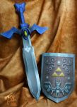 Wind Waker Master Sword and Shield Papercrafts by studioofmm