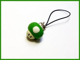 Super Mario 1-UP - Cell Phone Strap by CookingMaru