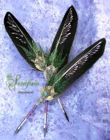 The SERAFINA ... Golden Compass Feather Quill Pen by ChaeyAhne