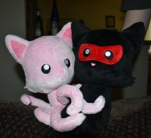 Tentacle Kitty and NinjaKitty by TentacleKitty