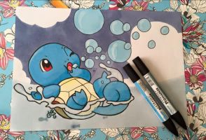 REQUEST 1: Squirtle (anno 2015) by Itstartswithapencil
