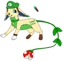 Luigi Cat thing ( selling ) by qoatlord