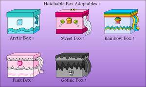 Hatchable boxes !  CLOSED by Xingyaru