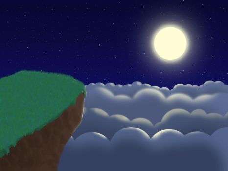 Moonlit clouds by eric22222
