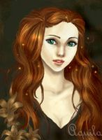 Lily Evans - young whit lilys by HogwartsArt