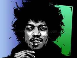 jimmy hendrix by gilbert86II