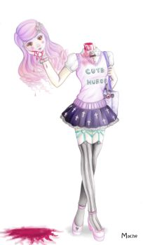 Pastel Goth Girl II by Winter-moon-laidy