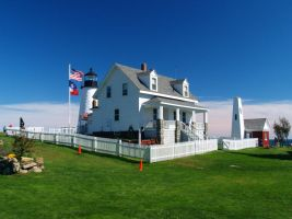 The keepers home at Pemaquid by davincipoppalag