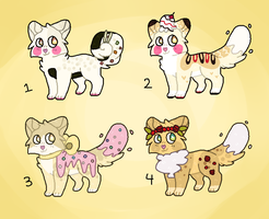 Food Kitty Adoptables // OPEN by catpaths