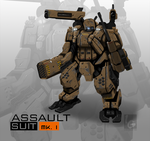 (COMMISSION) ASSAULT SUIT MK.1 by ianskie1