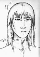 10 Sketches - Ayame by jmk1999