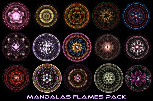 Mandalas Flame Pack for Apophysis by Xenodreaming