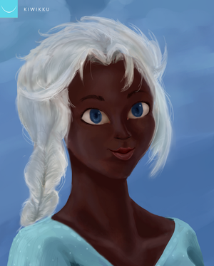BLACK ELSA by Kiwikku
