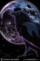 Raven of Nevermore iPhone Wall by seventhfury