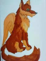 quick winged wolf sketch.. by Onii-Jurai