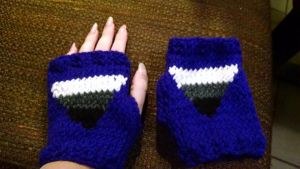 Asexual Pride Triangle Gloves by NantucketCat