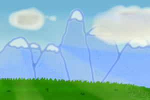 Landscape (Daytime, Mountains, Grass) by Dannyman12