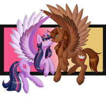 COM: Courageous Heart x Twilight Sparkle by thebluerooster