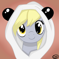Derpy-panda by DitzyHooves
