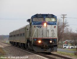 Amtrak 500 leads Amtrak Train 301 by EternalFlame1891