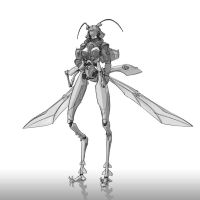 Monster Girl Challenge 22 - Insect by justsantiago