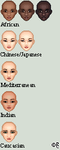 Multinational Faces by isoldel
