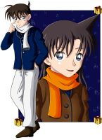 Shinichi and Ran by CelestialRayna