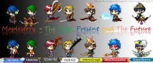 Maplestory Past Present Future by InfernoDragon0