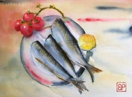 Still life with herring by stokrotas