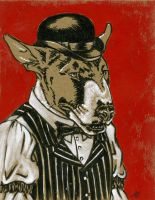 Dog Week - Bully in a Bowler by M-Everham