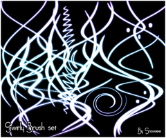 Swirly Brushes by Snowiee