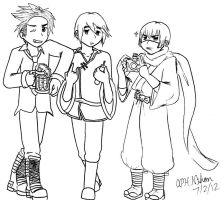 Trolling Trio WIP by APHnation-Nihon